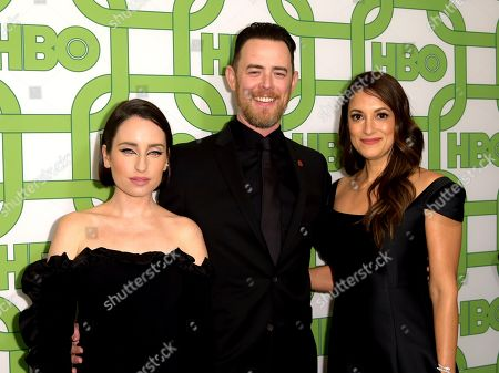 Zoe Lister-Jones, Colin Hanks, Angelique Cabral. Zoe Lister-Jones, from left, Colin Hanks, and Angelique Cabral arrive at the HBO Golden Globes afterparty at the Beverly Hilton Hotel, in Beverly Hills, Calif