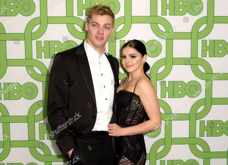 Levi Meaden, Ariel Winter. Levi Meaden, left, and Ariel Winter arrive at the HBO Golden Globes afterparty at the Beverly Hilton Hotel, in Beverly Hills, Calif