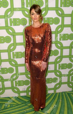 Stock Picture of Lili Simmons arrives at the HBO Golden Globes afterparty at the Beverly Hilton Hotel, in Beverly Hills, Calif