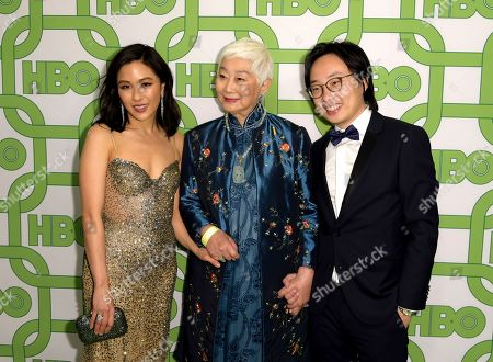 Constance Wu, Lisa Lu, Jimmy O. Yang. Constance Wu, from left, Lisa Lu, and Jimmy O. Yang arrive at the HBO Golden Globes afterparty at the Beverly Hilton Hotel, in Beverly Hills, Calif