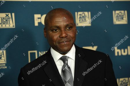 Carl Lewis arrives at the Fox Golden Globes afterparty at the Beverly Hilton Hotel, in Beverly Hills, Calif