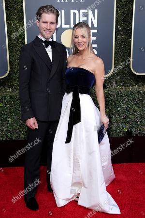Stock Image of Karl Cook and Kaley Cuoco