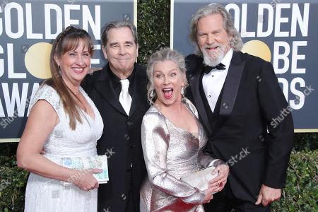Stock Picture of Wendy Treece Bridges, Beau Bridges, Susan Bridges and Jeff Bridges