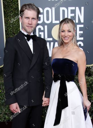 Karl Cook and Kaley Cuoco