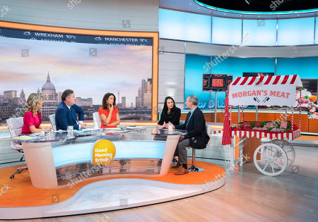 Charlotte Hawkins, Piers Morgan, Susanna Reid, Amelia Womack and Phil Stocker