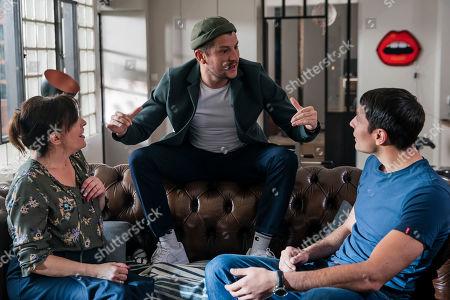 Stock Picture of Nanou Garcia, Yvan Nabroun as Roman and Marc Ruchmann as Jules