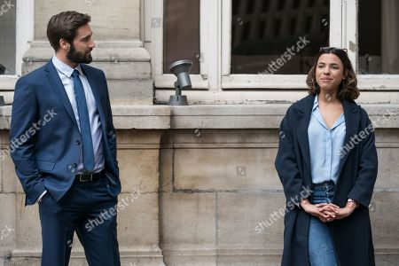 Stock Photo of Guillaume Labbe as Maxime and Zita Hanrot as Elsa