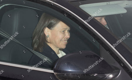 Stock Image of Lady Sarah Armstrong-jones Arrive At Buckingham Palace For The Queen's Annual Royal Christmas Lunch 20.12.17.
