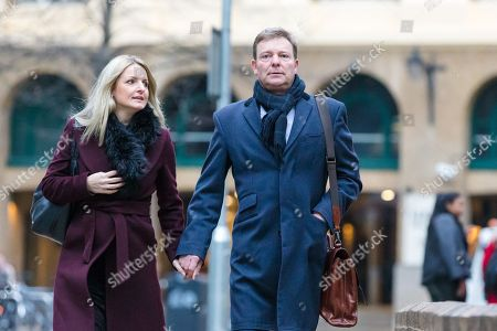 Craig Mackinlay with his wife, Kati arrives at Southwark Crown Court this morning, where the jury are continuing their deliberations following a trial where Cackinlay stood accused of submitting false election expenses.
