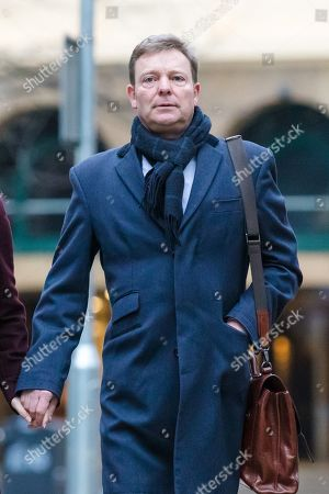 Craig Mackinlay arrives at Southwark Crown Court this morning, where the jury are continuing their deliberations following a trial where Cackinlay stood accused of submitting false election expenses.