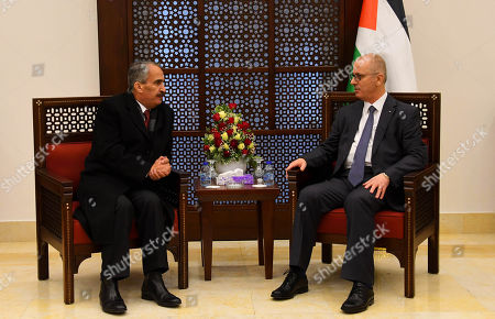 Editorial photo of Palestinian Prime Minister Rami Hamdallah meets Jordanian Interior Minister Samir al-Mubaidin, West Bank city of Bethlehem, Palestinian Territories - 07 Jan 2019