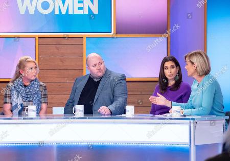 Denise Fergus, Stuart Fergus, Stacey Solomon and Jane Moore