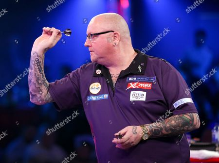 Stock Photo of Andy Hamilton during the 2019 BDO World Professional Darts Championships at Lakeside, Frimley Green