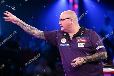 Stock Image of Andy Hamilton during the 2019 BDO World Professional Darts Championships at Lakeside, Frimley Green