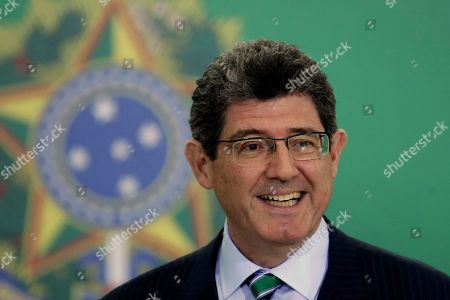 Stock Picture of Joaquim Levy, the new president of the National Bank for Social Development, attends a ceremony where the new presidents of Brazil's government banks are presented at Planalto presidential palace in Brasilia, Brazil