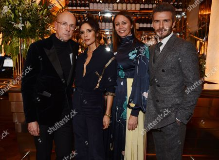 Dylan Jones, Victoria Beckham, Caroline Rush and David Beckham