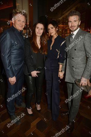 Gordon Ramsay, Tana Ramsay, Victoria Beckham and David Beckham