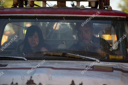 Kate Lyn Sheil as Allison Barnes and David Denman as Mark Holter