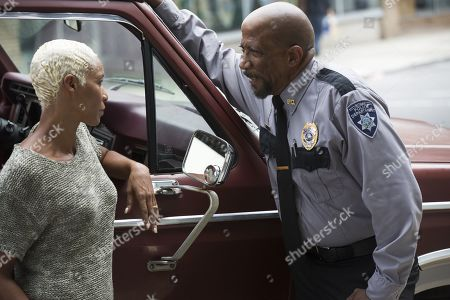Charmin Lee as Rose Giles and Reg E. Cathey as Chief Giles