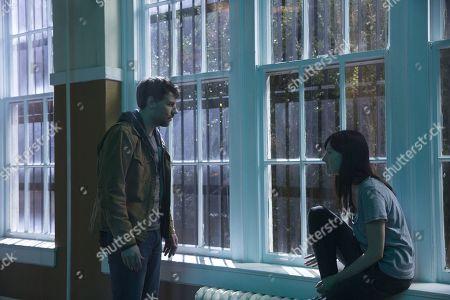 Patrick Fugit as Kyle Barnes and Kate Lyn Sheil as Allison Barnes