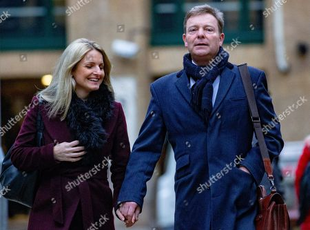 Tory MP, Craig Mackinlay, arrives at Southwark Crown Court with his wife, Kati. The MP for South Thanet is on trial for submitting false expenses duriing the 2015 election.