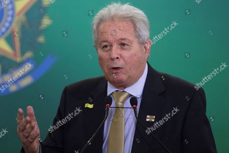 The new president of the Banco do Brasil Rubem Novaes speaks during the possession ceremony of the presidents of the country's three main public banks, in Brasilia, Brazil, 07 January 2019. At the ceremony were presented the presidents of the Federal Economic Caixa, Pedro Guimaraes; Banco do Brasil, Rubem Novaes; and the National Bank for Economic and Social Development (BNDES), Joaquim Levy, all aligned with the liberal ideology of Economy Minister Paulo Guedes, an economist trained at the Chicago School.