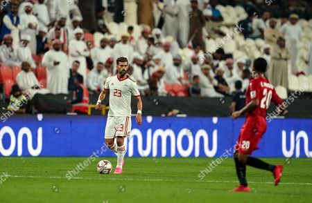 Ramin Rezaeian of Iran during Iran v Yemen at the Al-Nahyan Stadium in Abu Dhabi, UAE, AFC Asian Cup, Asian Football championship