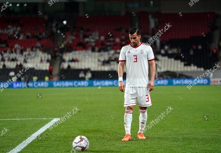 Ehsan Hajsafi of Iran during Iran v Yemen at the Al-Nahyan Stadium in Abu Dhabi, UAE, AFC Asian Cup, Asian Football championship