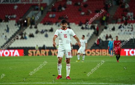 Mehdi Torabi of Iran during Iran v Yemen at the Al-Nahyan Stadium in Abu Dhabi, UAE, AFC Asian Cup, Asian Football championship