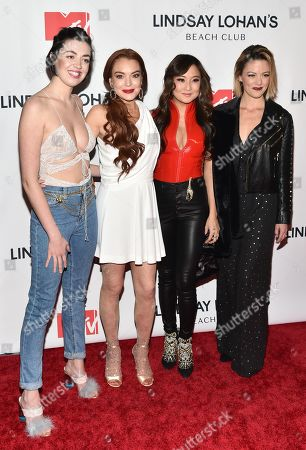 Barrett Wilbert Weed, Lindsay Lohan, Ashley Park, and Kate Rockwell