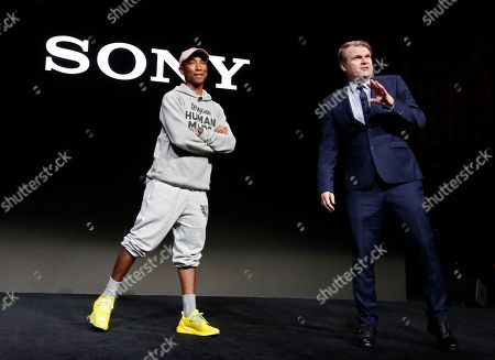 Stock Picture of Chief Executive Officer Sony Music Entertainment Rob Stringer (R) speaks next to US rapper Pharrell Williams (R) during the 2019 International Consumer Electronics Show in Las Vegas, Nevada, USA, 07 January 2019. he annual CES, which takes place from 08 to 11 January, is a place where industry manufacturers, advertisers and tech-minded consumers converge to get a taste of new innovations coming to the market each year