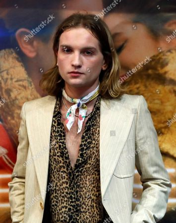 "French actor Lukas Ionesco poses during the premiere of the movie ""Une Jeunesse Doree"" in Paris"