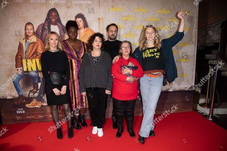 Audrey Lamy, Deborah Lukumuena, Noemie Lvovsky, Louis-Julien Petit, Adolpha Van Meerhaeghe and Corinne Masiero