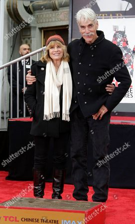 Stock Image of Sam Elliott (R) poses with his wife Katherine Ross (L) during a ceremony honoring him at the TCL Chinese Theatre in Hollywood, California, USA, 07 January 2019.