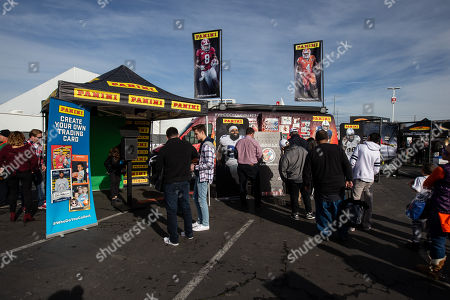 Stock Photo of San Jose, CA,..National Championship Bay Area Panini booth for the Alabama vs Clemson game at Levis Stadium on (Photo by Jevone Moore)