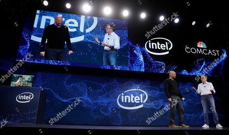 Editorial photo of Comcast Intel Partnership CES, Las Vegas, USA - 07 Jan 2019