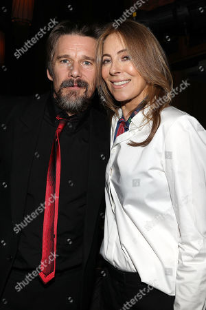 Stock Image of Ethan Hawke and Kathryn Bigelow