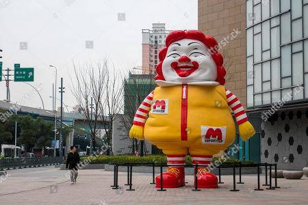 Ron English 'Mc Supersized' statue