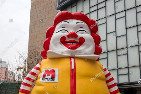 Stock Photo of Ron English 'Mc Supersized' statue