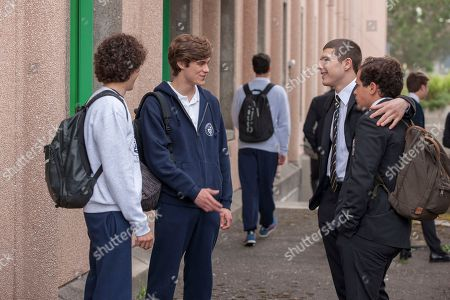 Mirko Trovato as Brando, Lorenzo Zurzolo as Niccolo, Riccardo Mandolini as Damiano Younes and Brando Pacitto as Fabio