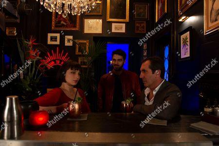 Alice Pagani as Ludovica, Giuseppe Maggio as Fiore and Paolo Calabresi as Saverio