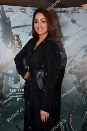Actress Yami Gautam seen during the promotion of his upcoming film 'URI:The Surgical Strike' at Sun and Sand Hotel