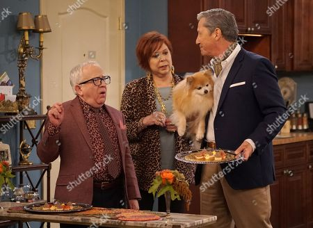 Stock Picture of Leslie Jordan as Sid, Vicki Lawrence as Margaret and Charles Shaughnessy as Murray