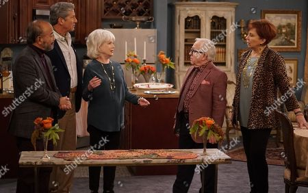 Clyde Kusatsu as Norman, Charles Shaughnessy as Murray, Julia Duffy as Francine, Leslie Jordan as Sid and Vicki Lawrence as Margaret