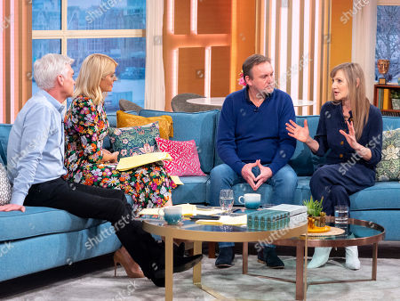 Phillip Schofield and Holly Willoughby with Philip Glenister and Lesley Sharp