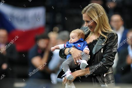 Stock Image of Nicole Vaidisova and daughter Stella