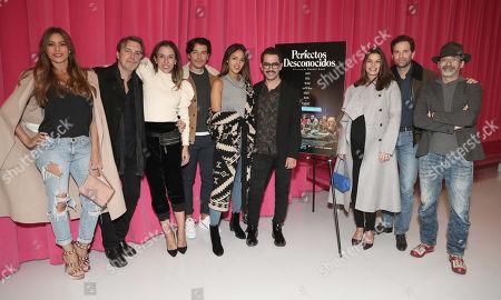 Sofia Vergara, Guests, Manolo Vergara, Eiza Gonzalez and Director Manolo Caro, Barbara Coppel, Alejandra Amaya and Bruno Bichir