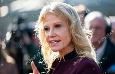 Counselor to the President KellyAnne Conway calls CNN's Jim Acosta a 'smart ass' while speaking about President Trump's prime-time address to the nation outside the White House in Washington, DC, USA, 08 January 2019. Their verbal sparing came after Acosta asked Conway if the President planned to speak 'truthfully' during the address. The US government is in the 18th day of a partial shutdown over funding for President Trump's proposed border wall.
