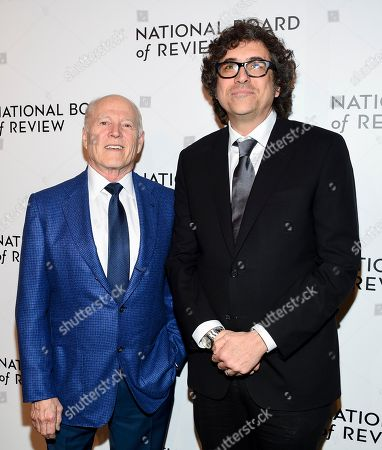 Frank Marshall, Bob Murawski. Honorees Frank Marshall, left, and Bob Murawski attend the National Board of Review awards gala at Cipriani 42nd Street, in New York