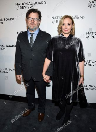 Kenneth Lonergan, J. Smith-Cameron. Screenwriter Kenneth Lonergan and wife J. Smith-Cameron attend the National Board of Review awards gala at Cipriani 42nd Street, in New York